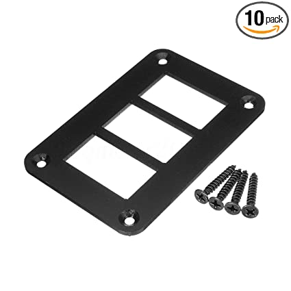 Amazon com: 3 Way Aluminum Rocker Switch Panel Housing