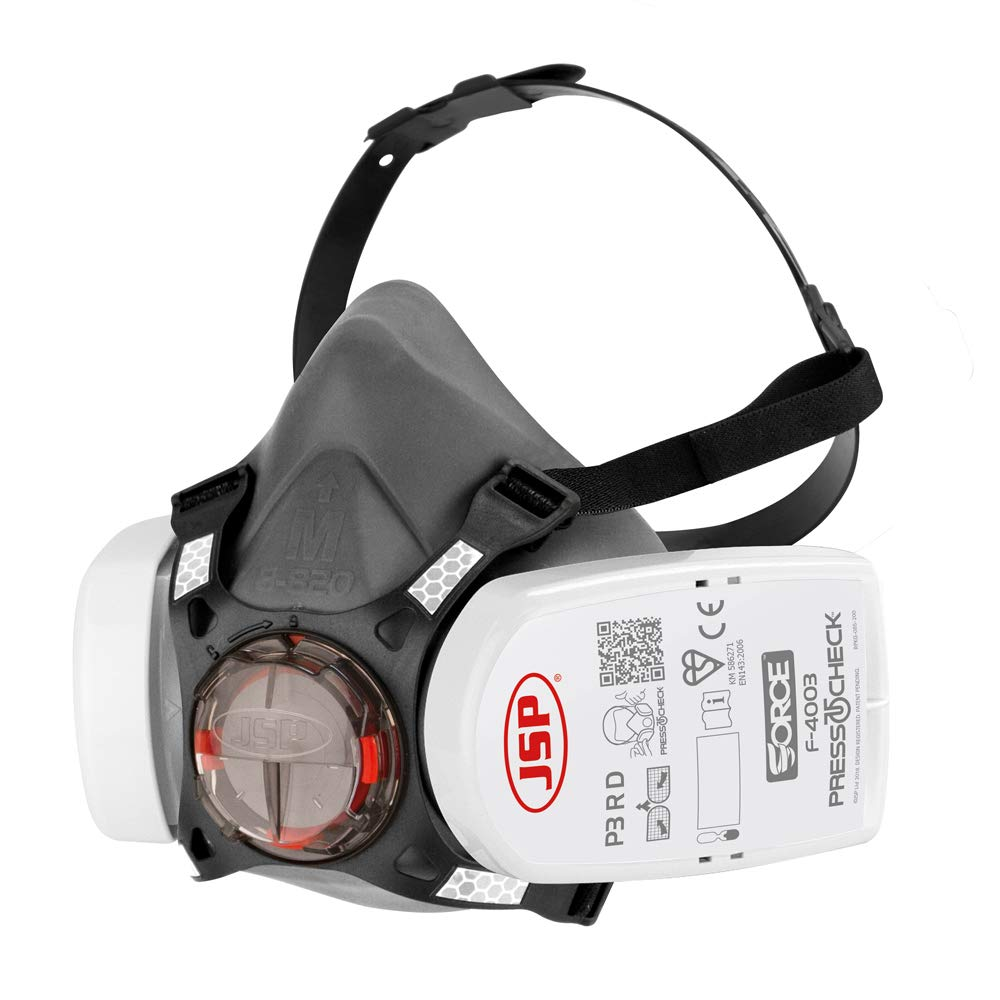 JSP BHT0A3-0L5-N00 - Media máscara Force 8 con Press To Check - Filtro P3