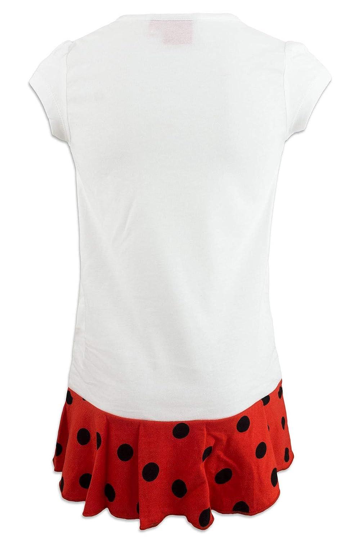 9312ES Miraculous LadyBug Cat Noir Nachthemd f/ür M/ädchen Wei/ß - 6 Jahre - 116 cm