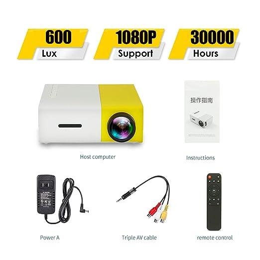 SONGYANG Proyector Proyector portátil Mini proyector portátil con ...