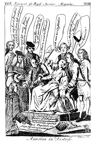 America In Distress 1775 Nsatirical Engraving By Paul Revere 1775 After An English Engraving Of 1770 Showing America Surrounded By Physicians Diagnosing Her Ills And Suggesting Treatments Poster Print