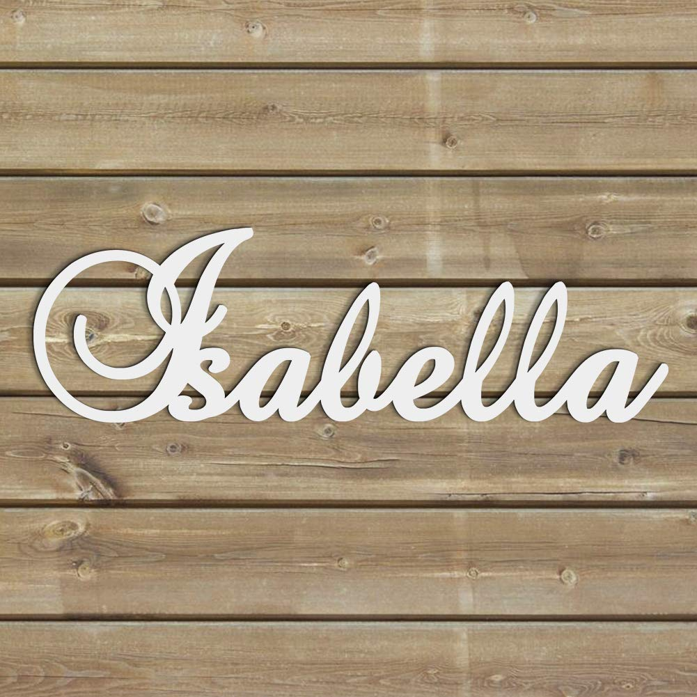 Personalized Wooden Name Sign Custom Baby Name Plaque Letters Nursery Decor Family Name Wood Cutout
