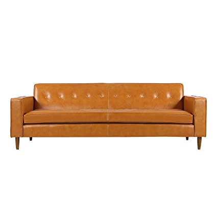 Wondrous Kardiel Eleanor Mid Century Modern Classic Sofa Tan Aniline Leather Ocoug Best Dining Table And Chair Ideas Images Ocougorg