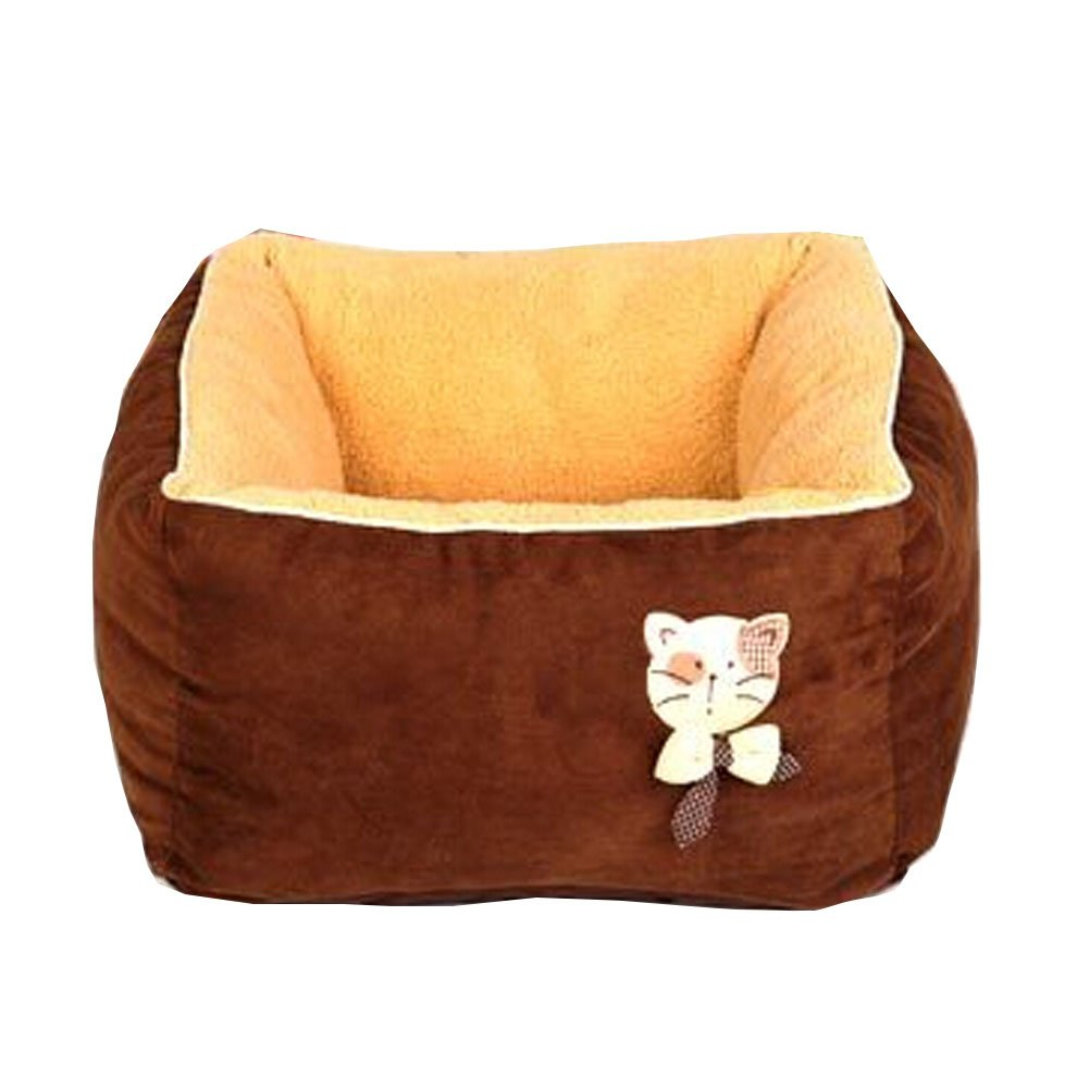 [Square Chocolate] Faddish & Soft Pet Nest,Deep Sleep Cat Bed (454527CM)