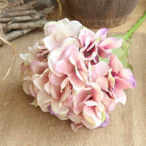 Inverlee 1Pcs Artificial Flowers Peony Floral Fake Flowers Wedding Bridal Bouquet DIY Home Garden Decor (B)