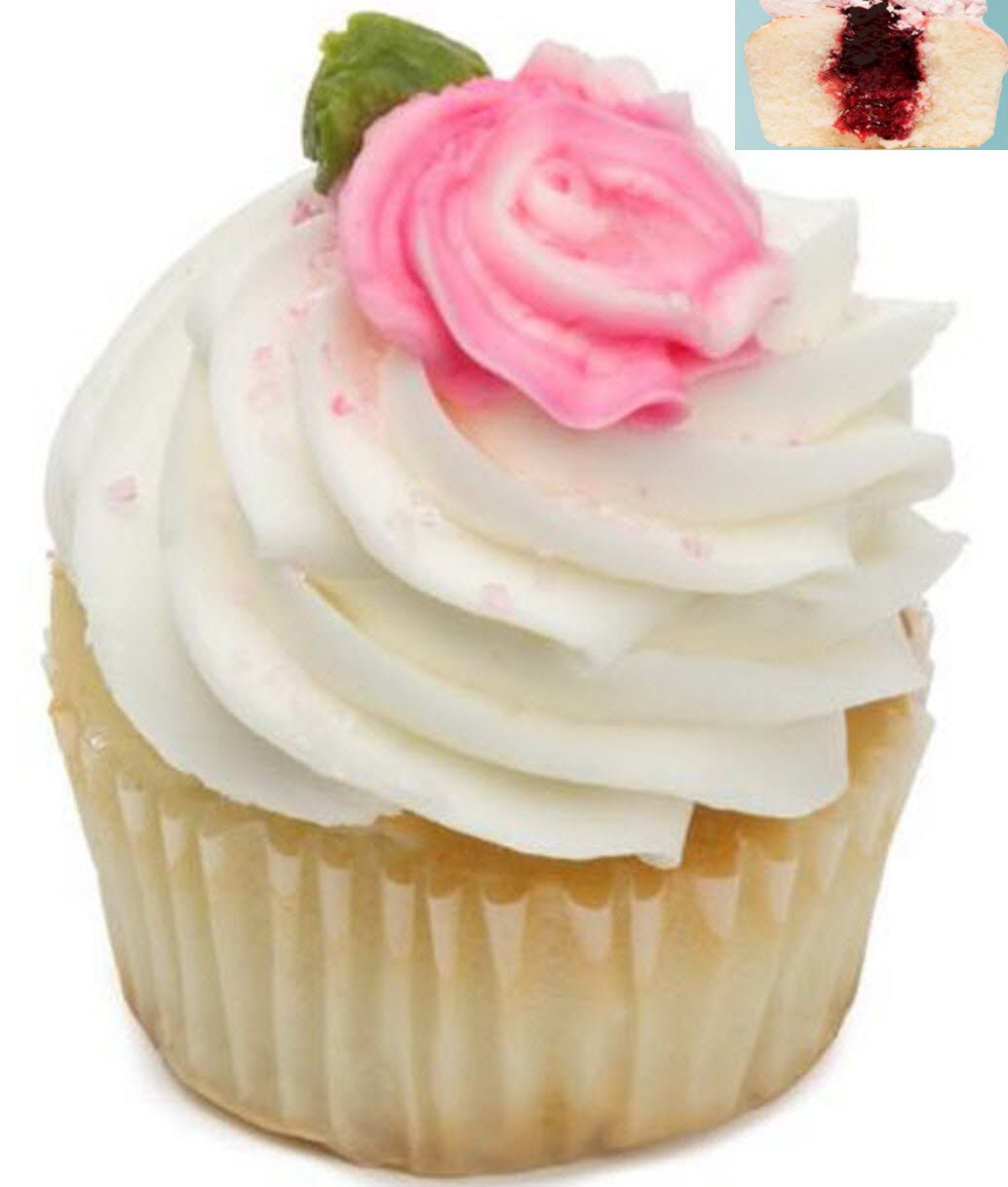 Strawberry Shortcake Cupcakes - Vanilla Cake Dessert - 12 Pack - Baked Fresh Day of Order by House of Cupcakes