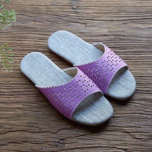 Zapatillas de los amantes de la ropa, casa, interior Piso zapatillas,40 y 41 amarillo 38 y 39 Purple