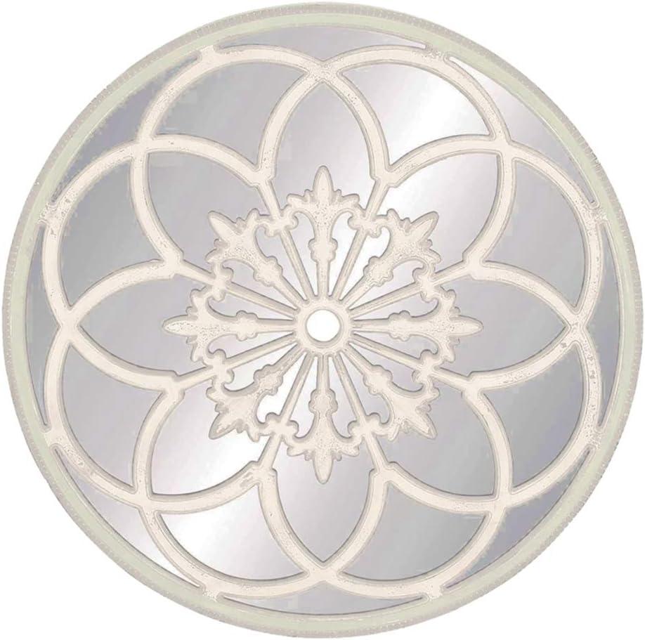 Cqing Espejo de Pared Redondo Moderno Decorativo Fondo de Rayos de Sol Negro Espejo Colgante de Pared para Sala de Estar Tama/ño de Marco 27.5 Pulgadas