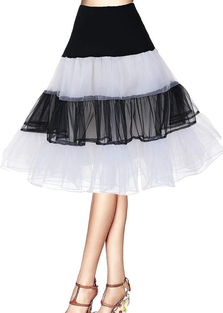 Cancan Enaguas falda vestido midi Cancan 50s Retro Rockabilly ...