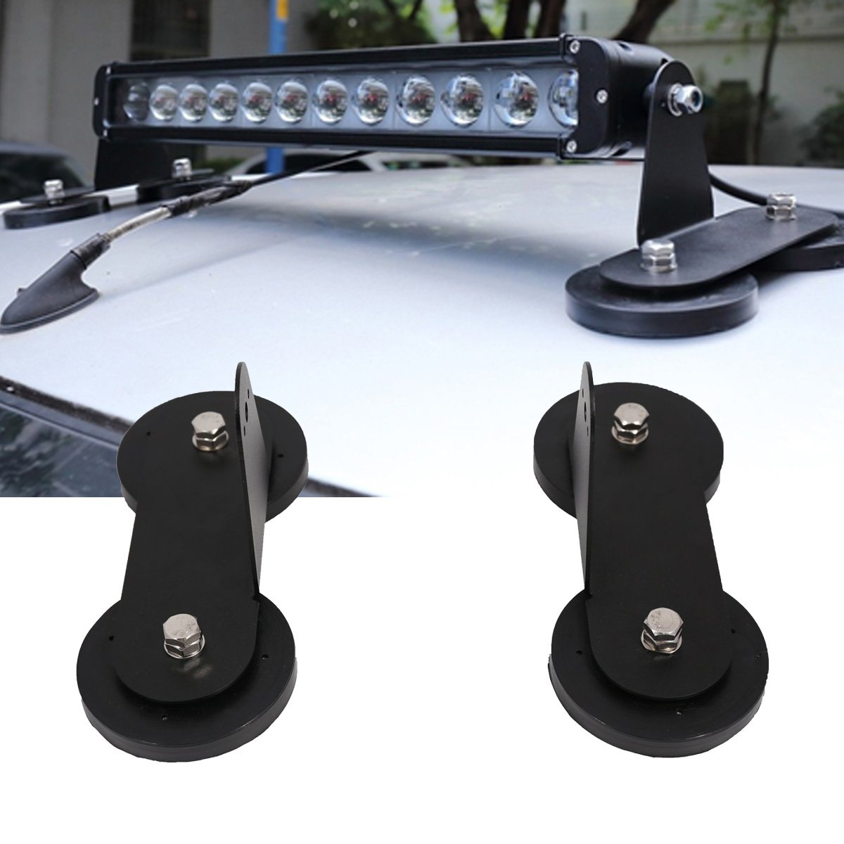 Lightronic Powerful Mount Bracket Sucker Holder Magnetic Base for Roof Led Light Bar Offroad