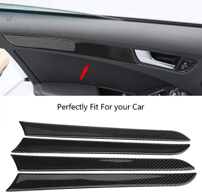 KIMISS Car Door Protector 4 Pz Porta laterale in fibra di carbonio Cornice decorativa Trim Cornice adesivi con forte adesivo
