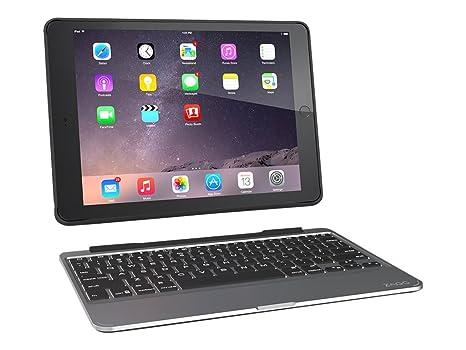 99b18ed7952 ZAGG Slim Book Ultrathin Case, Hinged with Detachable Bluetooth Keyboard  for Apple iPad Air 2
