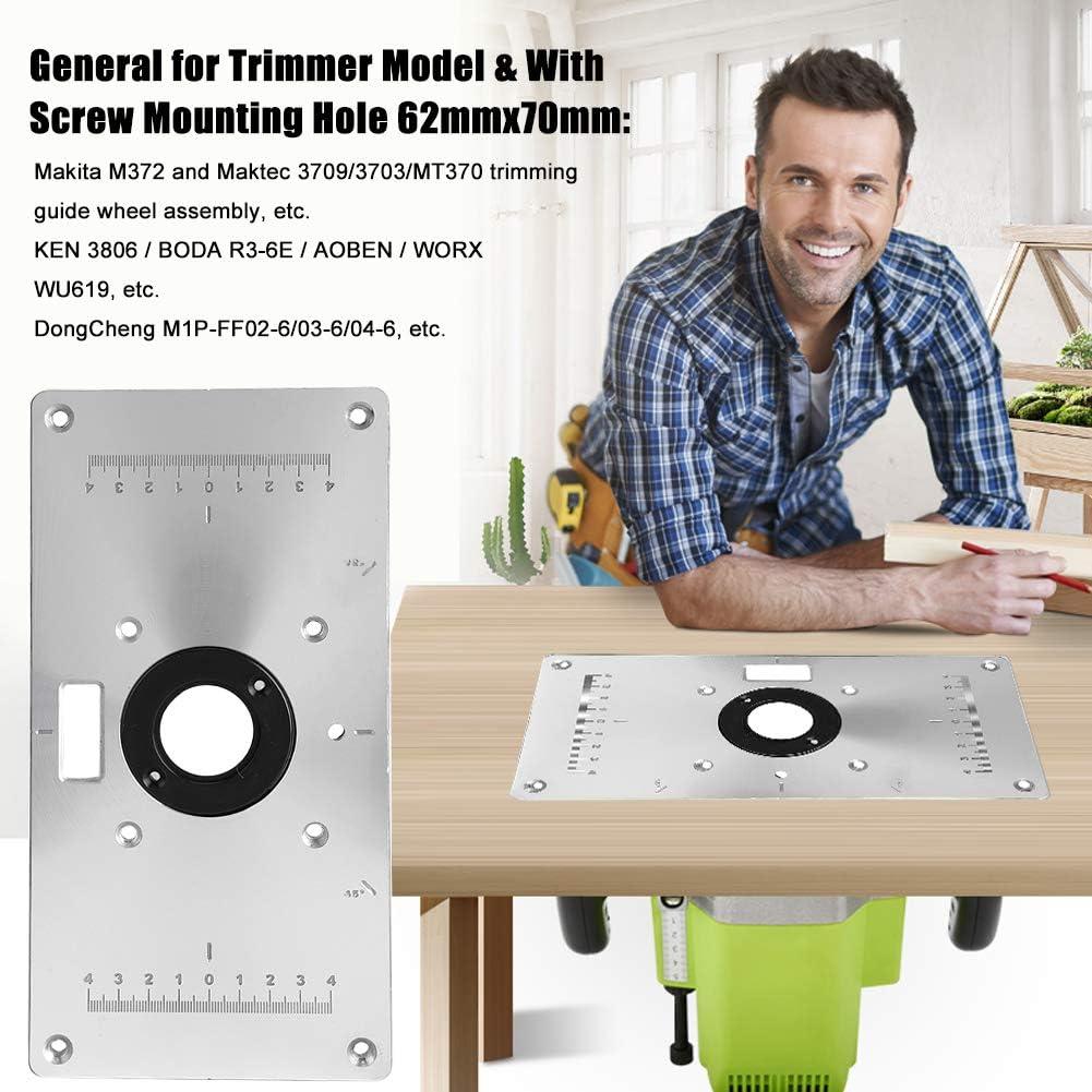 Aluminium Einsatz Router Einlegeplatte Tischeinsatzplatte Holz Tisch Drehbank DE