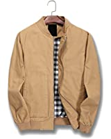 Nantersan Mens Bomber Jacket Cotton Softshell Sportswear Lightweight Slim Jacket Coat