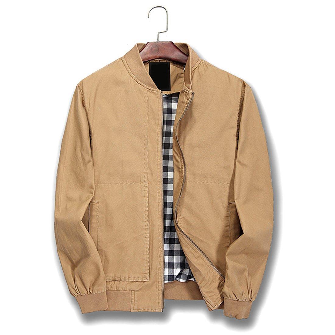 Nantersan Mens Bomber Jacket Cotton Softshell Sportswear Lightweight Slim Jacket Coat by Nantersan
