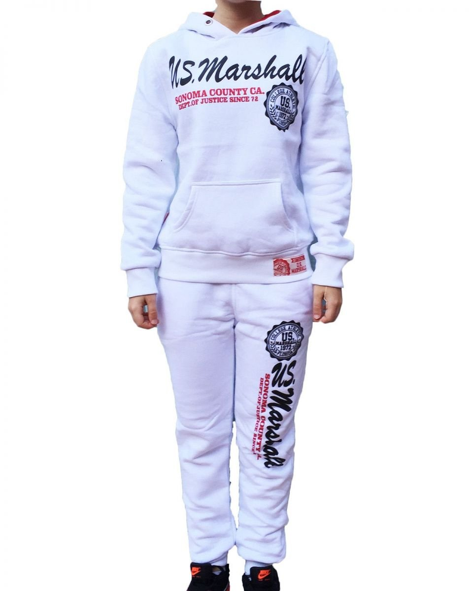 US MARSHALL Chándal infantil unisex, color blanco Blanco blanco ...