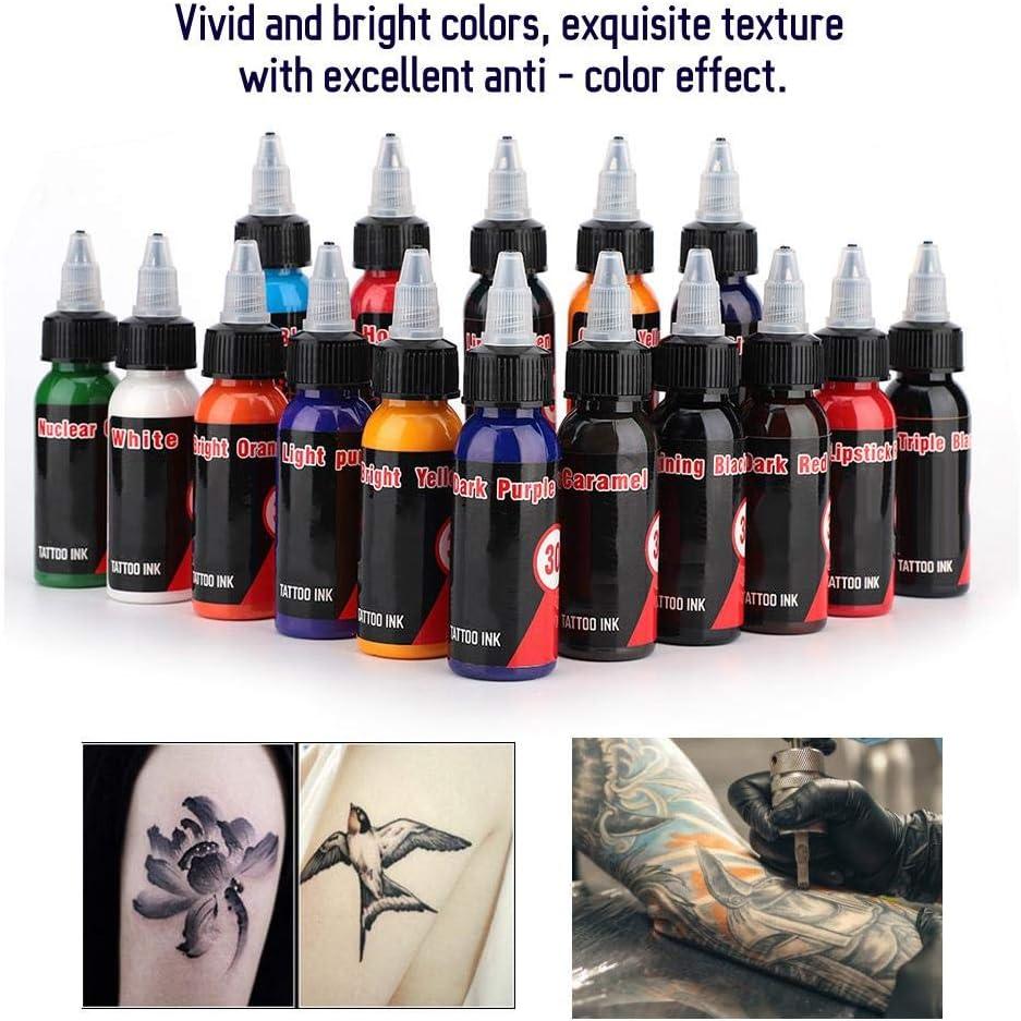 Conjunto de tintas de tatuaje para plantas naturales de 16 colores, tintas especiales para la tienda de tatuajes, tintas de maquillaje Pigmento ...