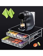 Masthome 72 Nespresso Cápsula soporte con 2 piezas extra paño de limpieza-Pod cajón de