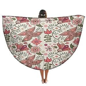 Mixed mariposa redondo Mandala tapiz, Hippie Hippy estilo, manta cama colcha, gitana colgar en la pared, ...