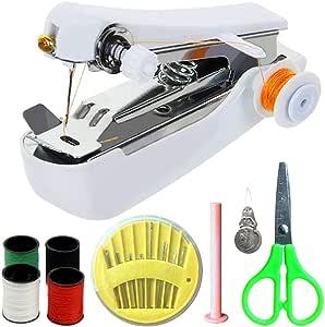 TTMOW Mini Máquina de Coser Portátil Manual Herramienta de Puntada Rápida con Tijeras y Otros Accesorios de Costura ...