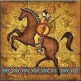 Ceramic Tile Mural - Southwest Horse 2 - by Dan Morris - Kitchen backsplash/Bathroom shower