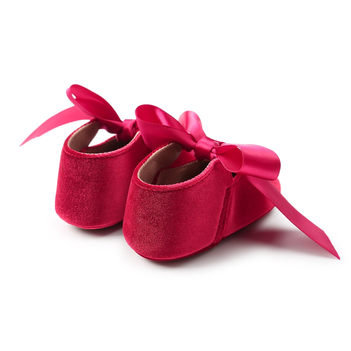 PanGa Baby Girls Mary Jane Flats Anti-Slip Princess Dress Shoes Soft Rubber Sole with Bow-Knot Toddler First Walkers Party Dress Shoes