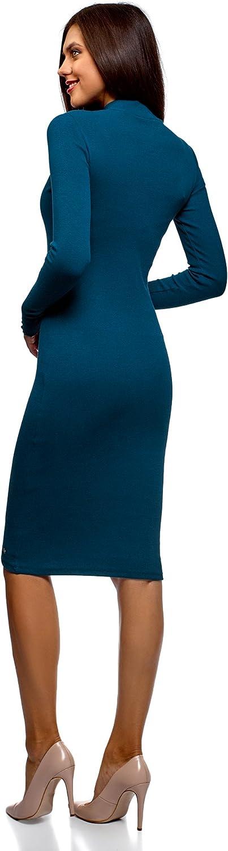 oodji Ultra Mujer Vestido de Punto con Cuello Mao: Amazon.es: Ropa ...