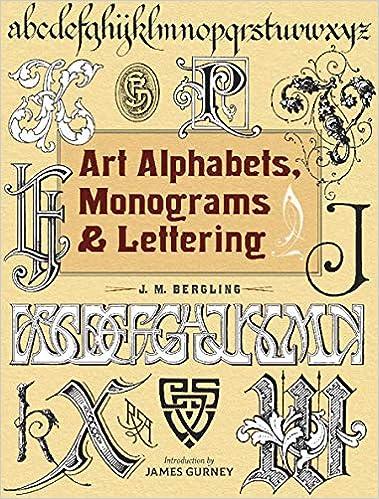 art alphabets monograms and lettering dover art instruction