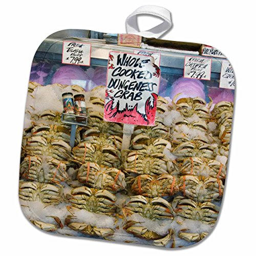 3dRose Danita Delimont - Markets - Washington, Seattle, Pike Place Market crab - US48 CSL0051 - Charles Sleicher - 8x8 Potholder (phl_95284_1)