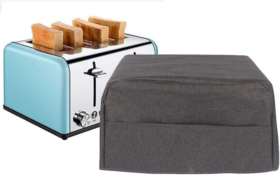 "4 Slice Bread Toaster Oven Dustproof Cover, Cotton Quilted Kitchen Broiler Appliance Organizer Bag, Home Kitchen Toaster Oven Wallets Hold Toaster Broiler Appliances Up To 17""L And 10.6"" H"