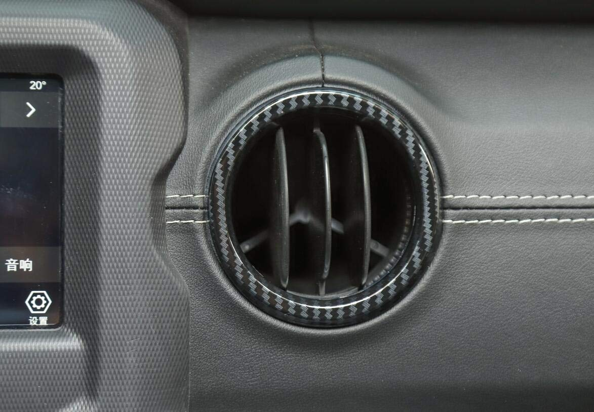 FMtoppeak Interior Accessories Dashboard Air Conditioning Vent Outlet Decoration Ring Trim for Jeep Wrangler JL 2018 UP Red