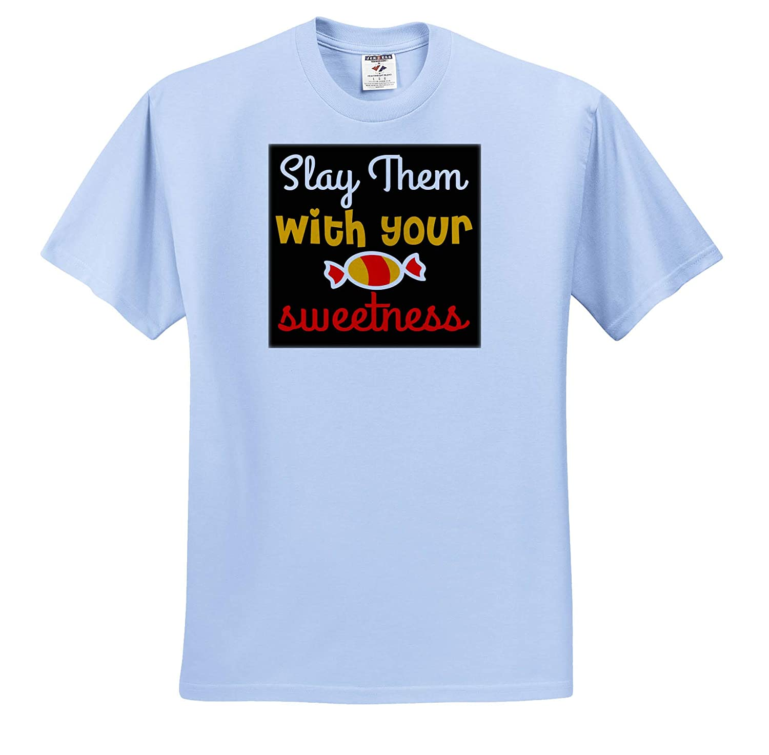 ts/_319309 Quotes and Sayings 3dRose Anne Marie Baugh Adult T-Shirt XL Slay Them with Your Sweetness