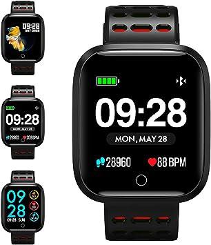 KUNGIX Reloj Inteligente, Smartwatch Pulsera Actividad Inteligente ...
