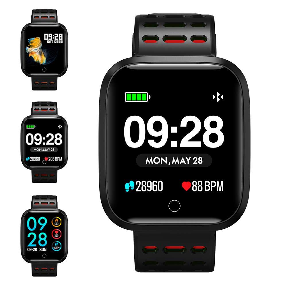 Reloj Inteligente, KUNGIX Smartwatch Pulsera Actividad Inteligente Impermeable IP67 Pantalla Color Pulsera Podómetro con Pulsómetro, Monitor de Calorías, Sueño para Android y iOS Hombre Mujer product image