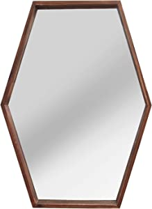 Stratton Home Decor -- Dropship, us home, SUHQX Stratton Home Decor JoJo Wood Mirror, Dark Natural Wood