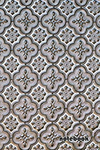 notebook: 6x9 cute lined journal | tiles baroque pattern texture decorative - Ornaments Baroque