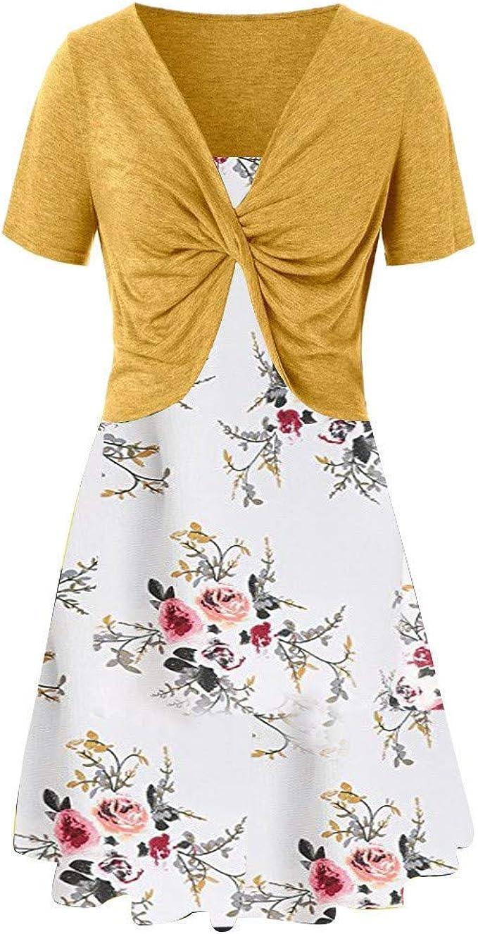 VEMOW Faldas Mujer Vestido de Flor de Verano de Mujer con ...