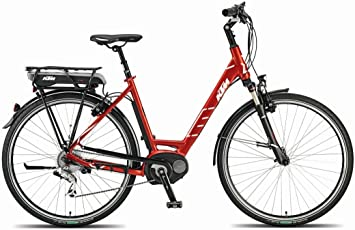 KTM Macina Dual Bosch 400 Mujer , bicicleta eléctrica, rojo rubí ...