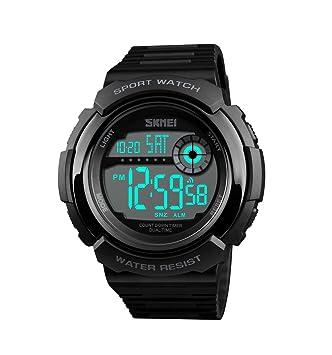 ML Reloj Digital Deportivo Masculino, Masculino y Femenino, Reloj Infantil cronógrafo Luminoso multifunción al Aire Libre Impermeable Militar Reloj ...