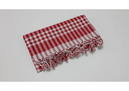 Fdm Tablecloth Linen 100% Cotton Checkered Gingham Buffalo Picnic Blanket  Square (55x55, Classic