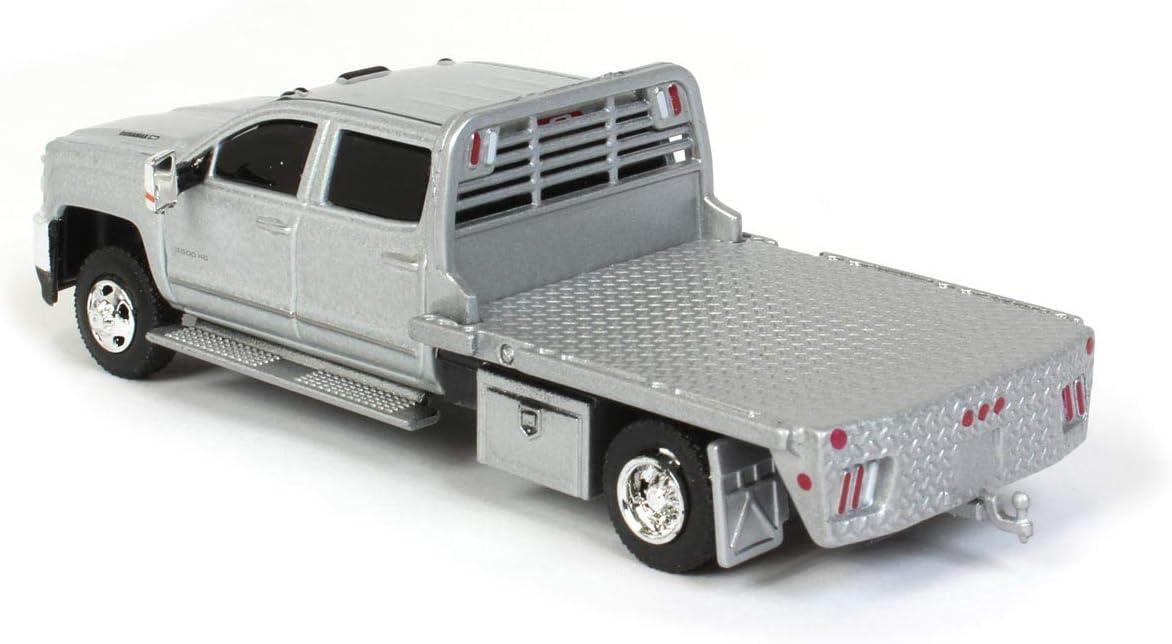 Greenlight 2015 Silverado 3500HD Dually Flatbed Truck Silver Ice Metallic Dually Drivers Series 5 1//64 Diecast Model Car 46050 A