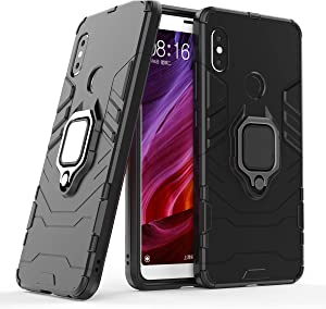 Cocomii Black Panther Ring Xiaomi Redmi Note 5/Note 5 Pro Case, Slim Thin Matte Vertical & Horizontal Kickstand Ring Grip Bumper Cover Compatible with Xiaomi Redmi Note 5/Note 5 Pro (Jet Black)