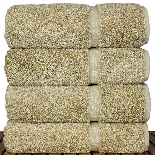 Luxury Premium long-stable Hotel & Spa Turkish Cotton 4-Piece Eco-Friendly Bath Towel Set (Driftwood) by Chakir Turkish Linens (Image #2)