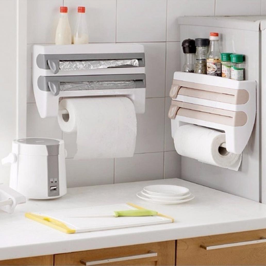 wfz17 Küche hilfreich Frischhaltefolie Aufbewahrung Rack Regal mit ...