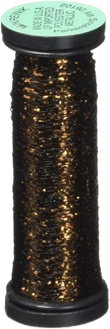 55 Yard Kreinik Blending Filament 50 m Metallic Garn zum N/ähen Hi Lustre Bronze