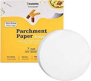 Katbite Heavy Duty Parchment Rounds 7 Inch 200 Pcs, 6