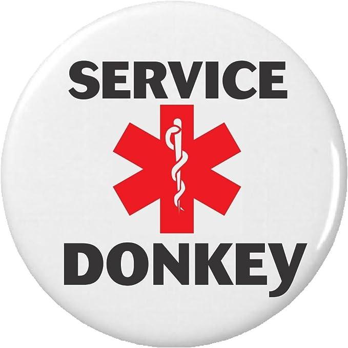 Amazon.com: Servicio burro símbolo de Alerta Médica 2.25 ...