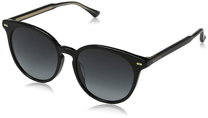 Amazon.com: Gucci gg0195sk 001 negro gg0195sk redondas ...