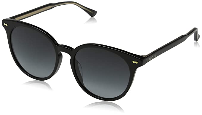8180750f36 Amazon.com  Gucci GG0195SK 001 Black GG0195SK Round Sunglasses Lens  Category 3 Size 55mm  Gucci  Clothing