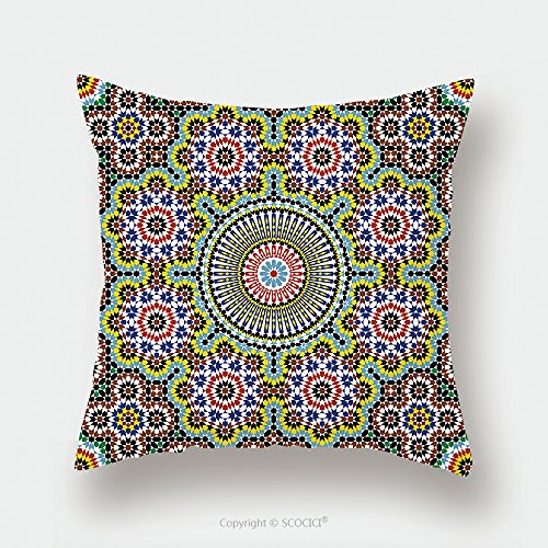 Custom Satin Pillowcase Protector Morocco Seamless Pattern Traditional Arabic Islamic Background Mosque Decoration Element 445468849 Pillow Case Covers Decorative by chaoran